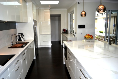 Designing a great galley kitchen cdk for Two way galley kitchen designs