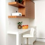 Modern office space within kitchen
