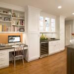 Office Desk within kitchen area