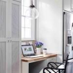 Office area within kitchen