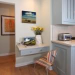 Office desk within kitchen